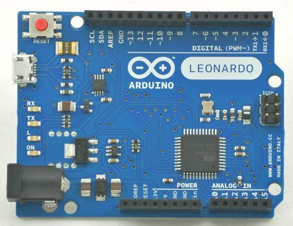 Leonardo 32U4 – 16MHz 5V (100% Arduino compatible)
