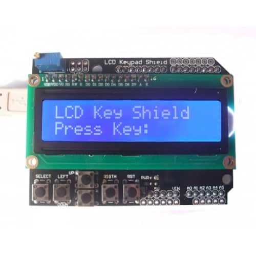LCD Shield with Keypad for the Arduino